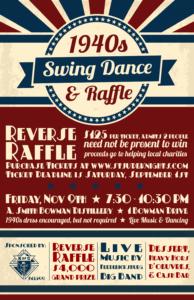 1940's Swing Dance & Reverse Raffle
