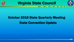 State Convention Update: Oct Qtly Meeting