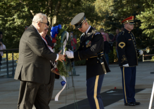 LAYING OF THE WREATH AT THE TOMB OF THE UNKNOWN SOLDIER